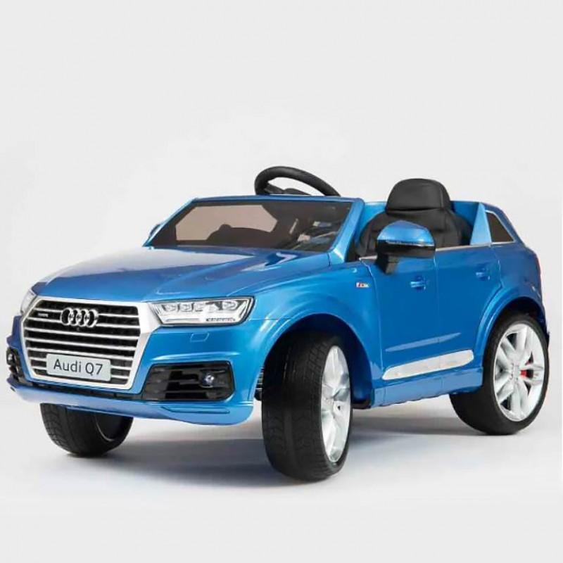 Электромобиль детский Audi Q7 45419 (Р) синий, глянцевый