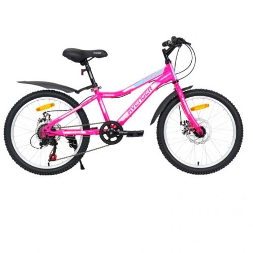 Велосипед 20 Avenger C200DW-PNN/WT-11(21) розовый неон/белый