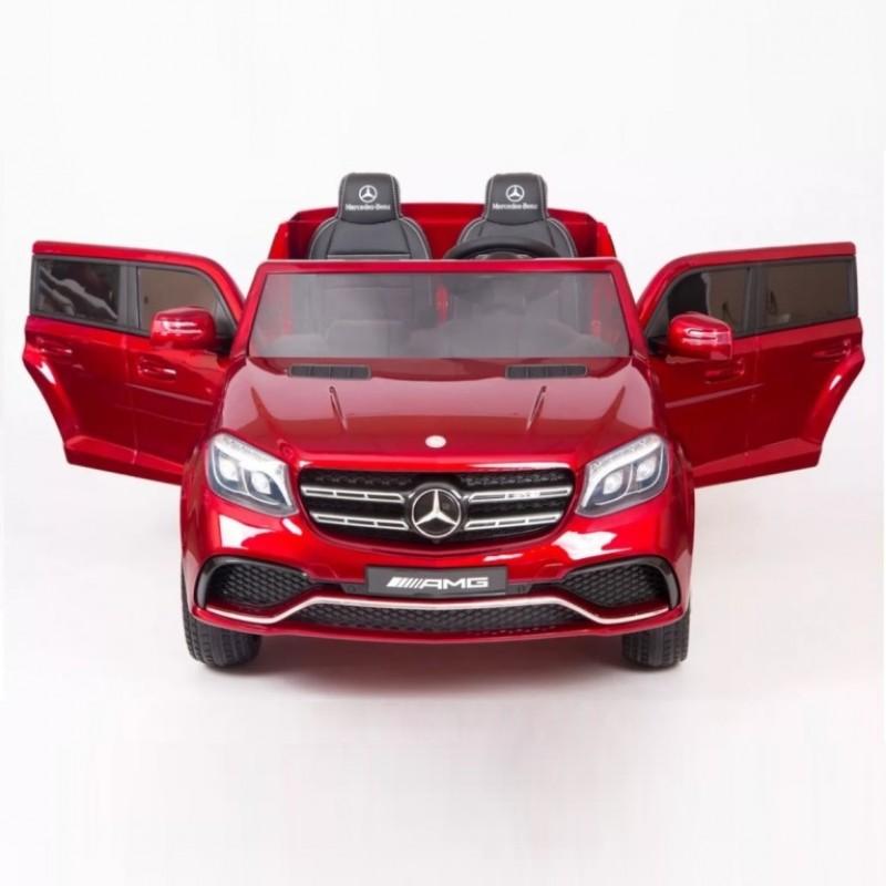 Электромобиль детский Mercedes-Benz GLS63 4WD 42323 вишня глянц  24в р-у кож 131*70*