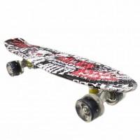 Скейтборд  JC-003 22 Граффити чёрный