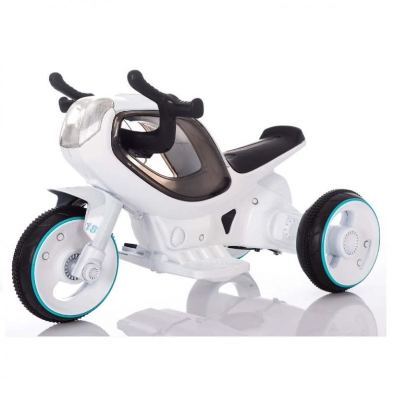 Электромотоцикл детский HC-1388 белый