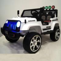 Электромобиль детский Jeep 42553 (4х4)  белый (P)