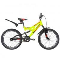 Велосипед 20 Novatrack SHARK салатовый, сталь, 1 скор., Falcon