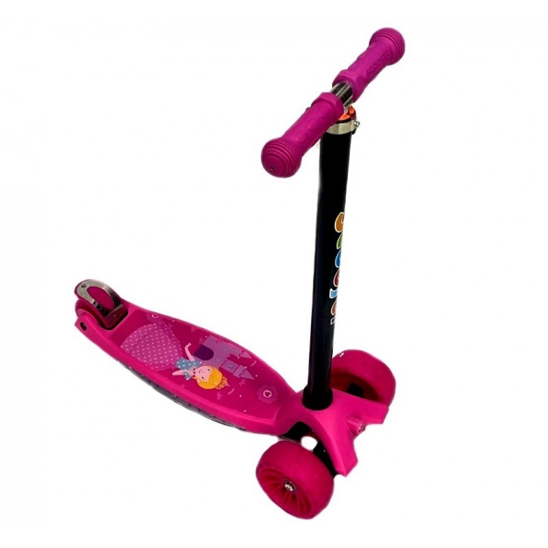 Самокат Scooter BIG Maxi Print Music TJ-701M  цвет розовый Принцесса 1/6