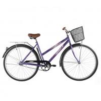 Велосипед 28 Foxx  SHC.FIESTA.20VT1 фиол.+дор. корзина