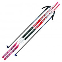 Лыжный комплект NNN креп STC 160см (4)+пал+кр