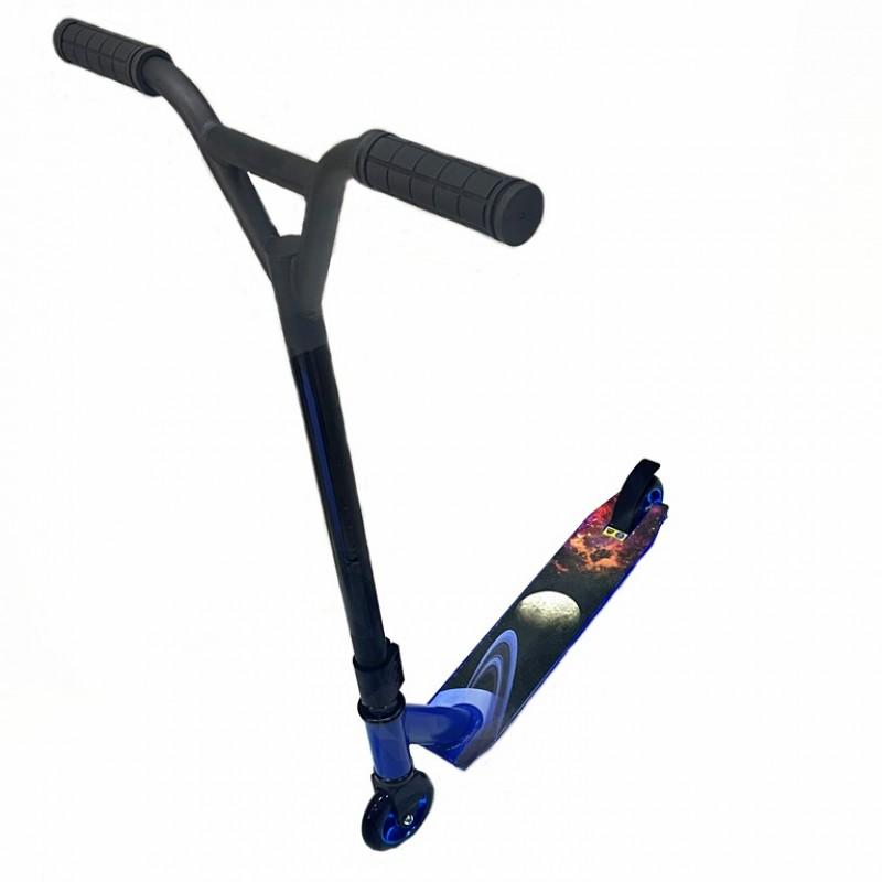 Самокат трюковой Scooter JC907 синий/черный