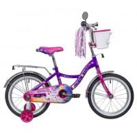 Велосипед 16 Novatrack LITTLE GIRLZZ.VL9 фиолетовый