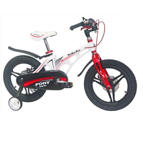 Велосипед 18 Bibitu PONY D белый/красный