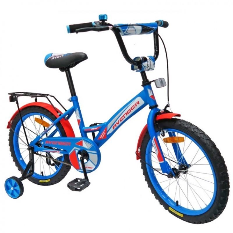 Велосипед 16  AVENGER NEW STAR, синий/красный АКЦИЯ!!!