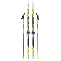 Лыжный комплект STC 75мм 170см (4)+палки+креп.