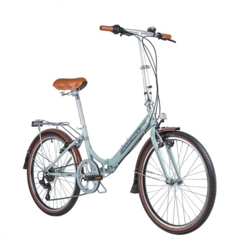 Велосипед 24 Novatrack FAURORA6S.BL20 складной голубой Shimano 6