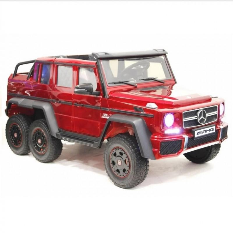 Электромобиль детский Mercedes-Benz G63-AMG 4WD 45474 (Р) шестиколесный красный глянец