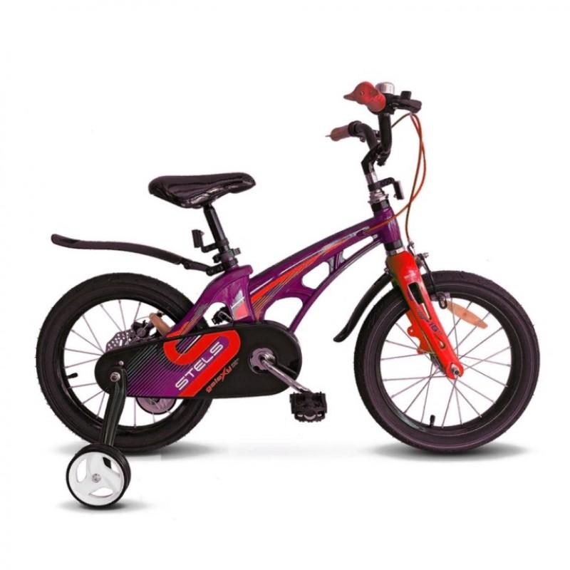 Велосипед 16  Stels  Galaxy V010 фиолетовый/красный 2021