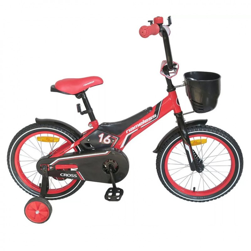 Велосипед 16 Nameless Cross, красный/чёрный