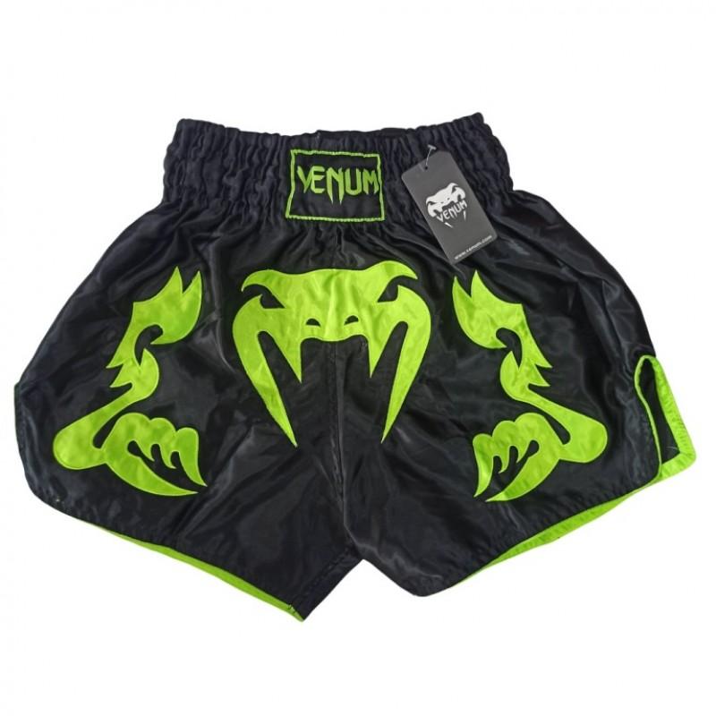Шорты ММА VENUM  черно-зеленый M