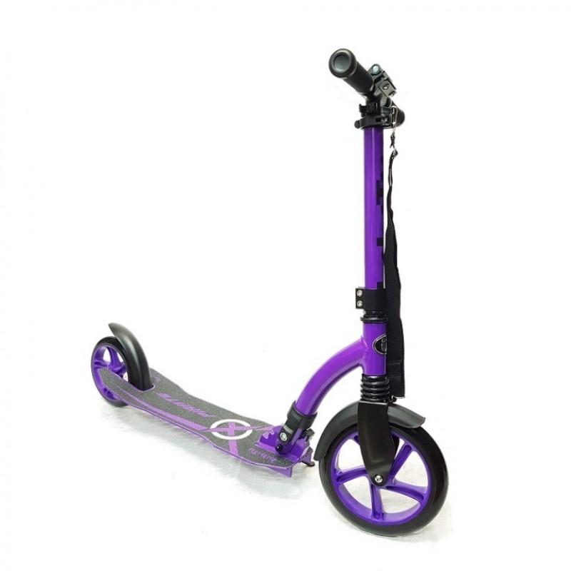 Самокат Bibitu PIRATE  SKL-037-3  фиолетовый колёса 230/180мм