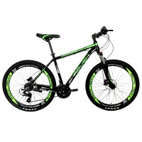 Велосипед 27,5 Roush 27HD210 AL PRO-3 зелёный матовый