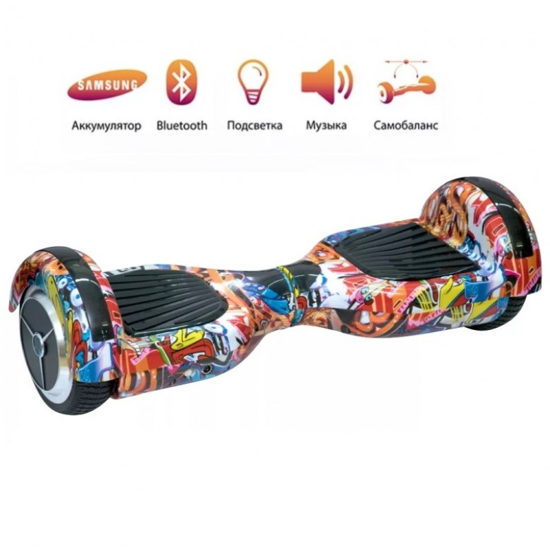 Гироскутер  6,5 Smart Balance Wheel Оранжевый Хип хоп Музыка + Самобаланс Whell new
