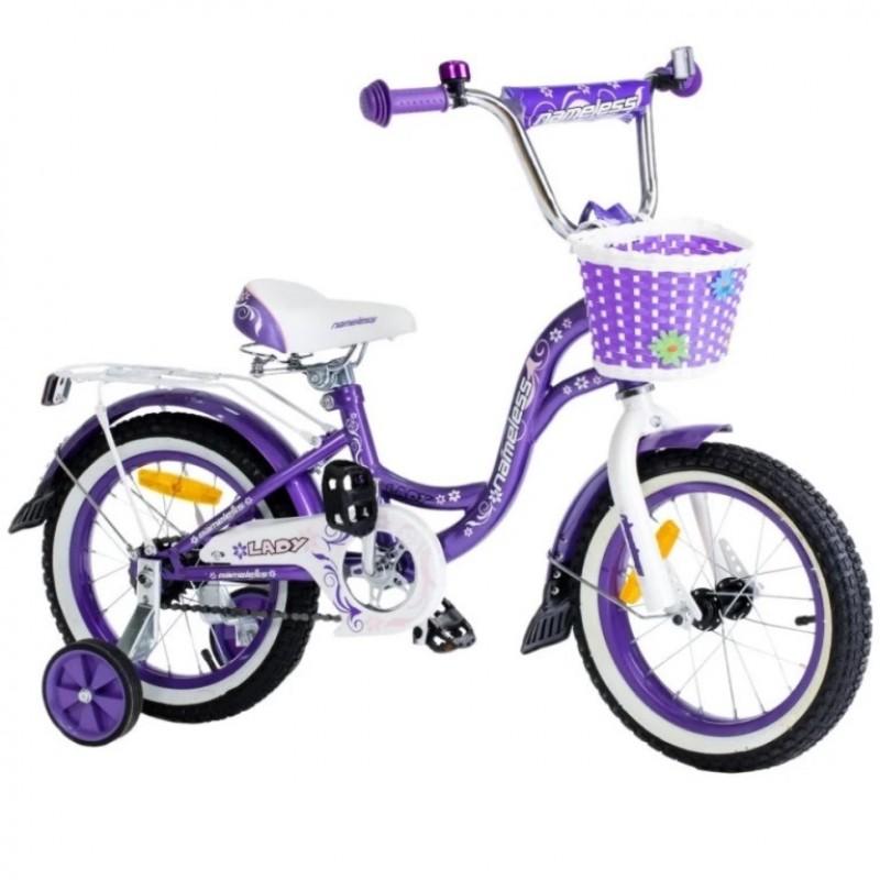 Велосипед 14 Nameless Lady, фиолетовый/белый