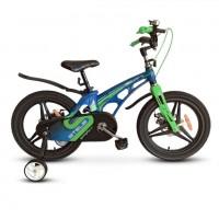 Велосипед 16  Stels  Galaxy V010 Pro синий/зелёный 2021