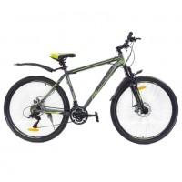 Велосипед 27,5 AVENGER A275D, серый/жёлтый, 18