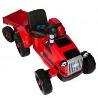 Детский электромобиль трактор TR 77,  50365 с прицепом красный (Р)