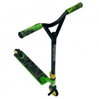 Самокат Трюковой Explore LEIDART PRO (Пеги в комплекте) цвет: зелёный