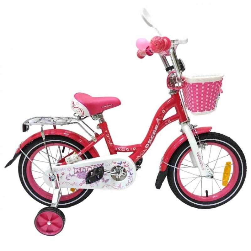 Велосипед 12 OSCAR KITTY розовый/белый