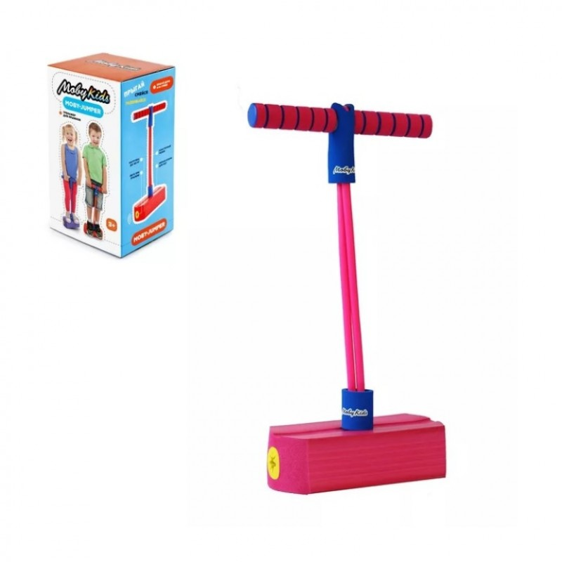 Тренажёр 68556 Moby Jumper для прыжков со звуком, розовый