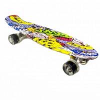 Скейтборд  JC-003 22 Хип хоп череп жёлтый
