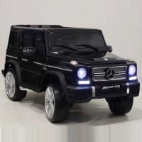 Детский электромобиль Mercedes-Benz G65AMG черный  12в р-у кож 131*70,5*65