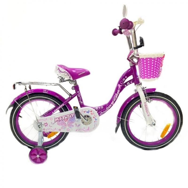 Велосипед 16 OSCAR KITTY фиолетовый/белый