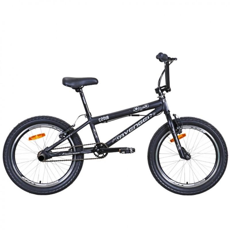 Велосипед трюковой 20 Avenger C201-BK/GR, чёрный/серый