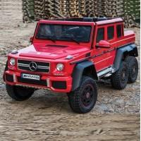 Электромобиль детский Mercedes-Benz G63 AMG 47171 Шестиколесный красный