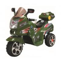 Электромотоцикл детский TR1102G  зелен с фар. (112x72x70)