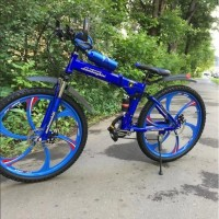 Велосипед на литых дисках Lambo складной синий 26 дюйм (P)