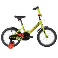 Велосипед 16 Novatrack Twist зеленый, тормоз нож, крылья корот, полная защ.цепи