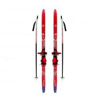 Лыжный комплект Комби  ТТ 100см (4)+палки+креп.