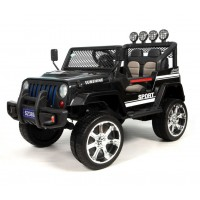 Электромобиль детский Jeep 42553 (4х4)  чёрный (P)