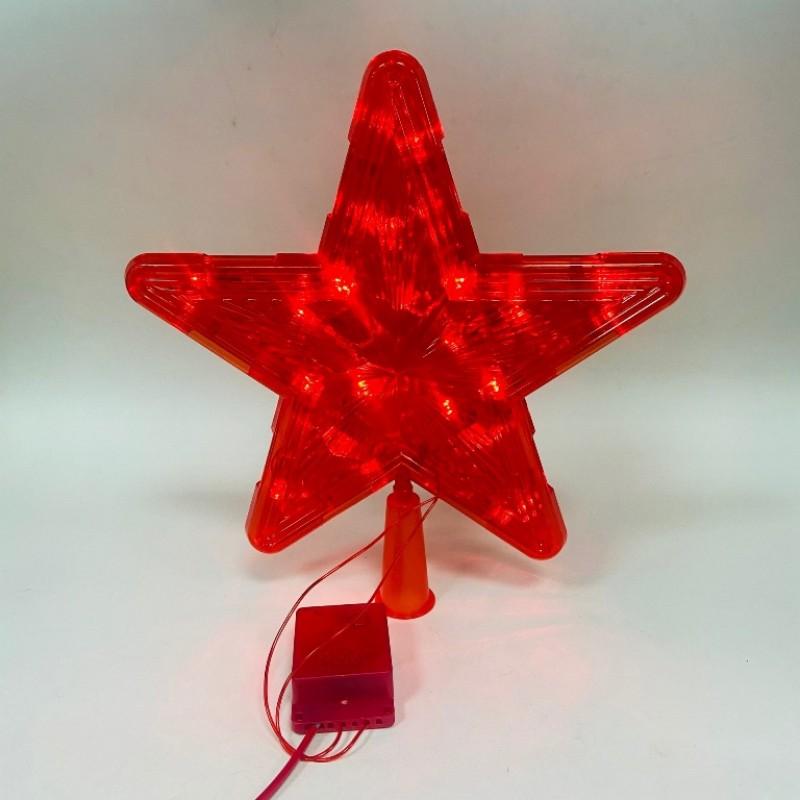 Гирлянда Звезда больш. красная , цветной свет