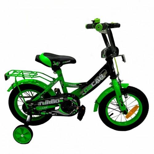 Велосипед 12 OSCAR TURBO Black-GREEN (черный/зеленый) 2021  АКЦИЯ!!!