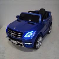 Электромобиль детский Mercedes-Benz ML350 синий глянец, 12в,кожанный салон,р-у