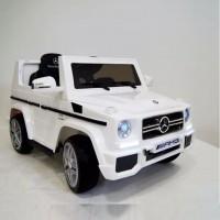 Электромобиль детский Mercedes-Benz G65 LS-528 12в р-у рез.к.кож.сид.бе