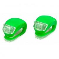 Фонари мягкое крепление, пластик, 2 светодиода, зелен.,(2шт.в 1 упак.)