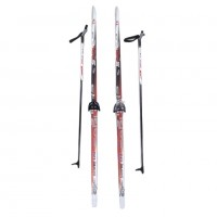 Лыжный комплект STC 75мм 170см (4)+палки+креп. STEP