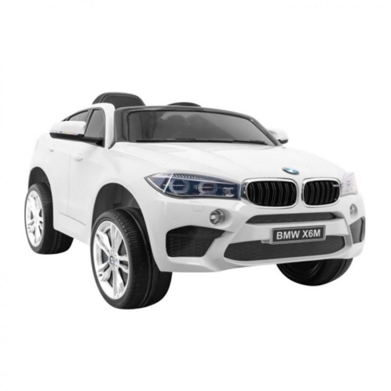 Электромобиль детский BMW X6M 45548 (Р) одноместный белый