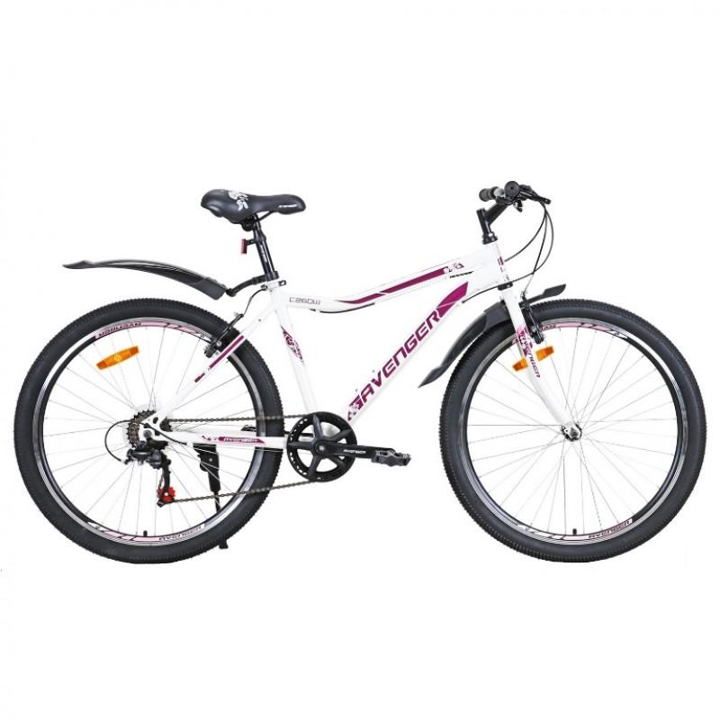 Велосипед 26 Avenger C260W белый/фиолет  17,5