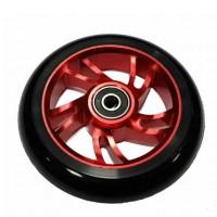 Колесо  100мм 100ALWHEEL-RD для прыжового  самоката, алюминий/полиуретан,ABEC-7,красн./чёрный
