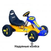 Педальная машина  ST00047-YE-RD красный надувные колеса 94*63*51см
